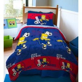 Plumón Estampado / Diseño: Bart Soccer Azul Azul
