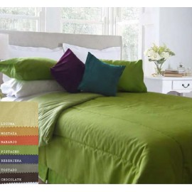 Cobertor Tela Otoman Colores / 1 1/2 Plazas